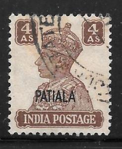 India Patiala 111: 4a George VI, used, VF
