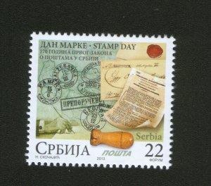 SERBIA-MNH** STAMP-STAMP DAY -2013.