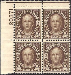 653 Mint,OG,NH... Plate Block of 4... SCV $3.00