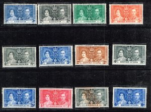 UK STAMP 1937 Coronation ISSUE COLLECTION LOT MNH/OG STAMP COLLECTION LOT #S11
