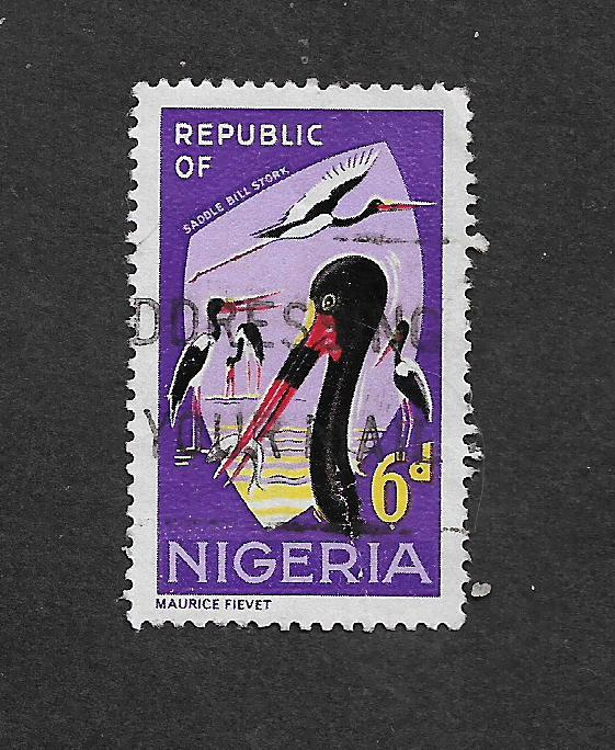 NIGERIA 1965 ANIMALS 6d USED