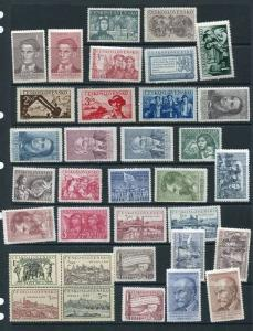Czechoslovakia 1950 Mi 608-642 MNH/MLH Complete Year (-4 Stamps& Block)