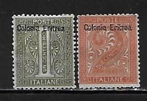 Eritrea 1-2 Numeral part set MH