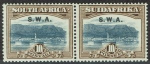 SOUTH WEST AFRICA 1927 TABLE MOUNTAIN 10/- PAIR