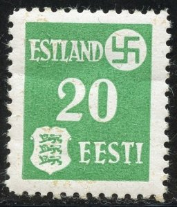 Estonia Scott N4 Unused GH - German Occupation Use in Dartu (Torbat) - SCV $5.50