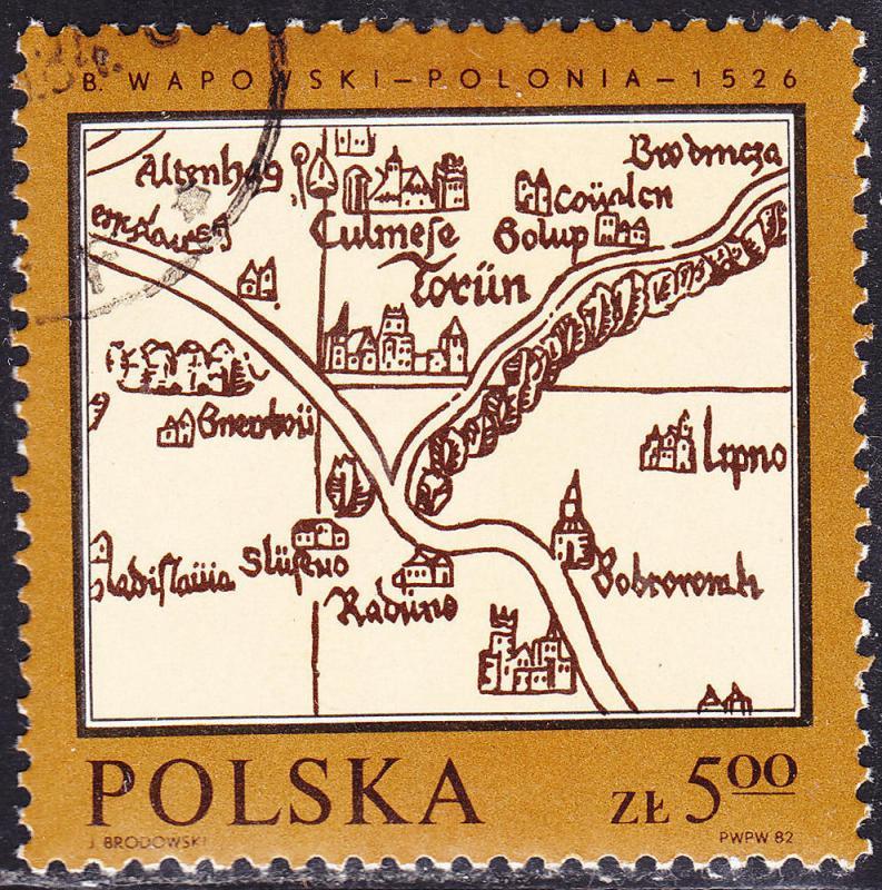 Poland 2550 Maps of Poland 5.00zł 1982