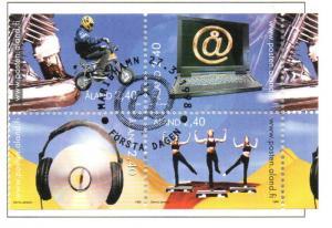 Aland Sc  140-3 1998 Children's Activities stamp set used