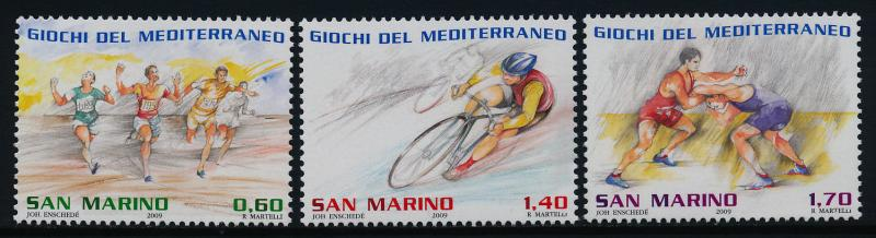 San Marino 1792-4 MNH Mediterranean Games, Sports, Cycling Athletics