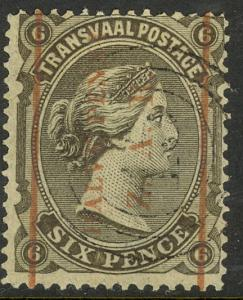 TRANSVAAL 1885 QV 1/2d on 6d Slate Surcharged Portrait Issue Sc 138 VFU