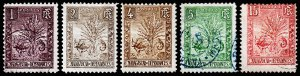 Madagascar - Malagasy Republic Scott 63-66, 68 (1903) Used/Mint H F, CV $6.15 C