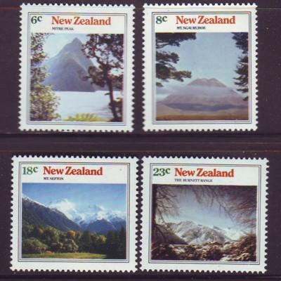 New Zealand Sc 528-31 1973 Mountains stamps mint NH
