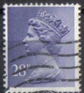 GREAT BRITAIN, used 28p MH135-7 Machins