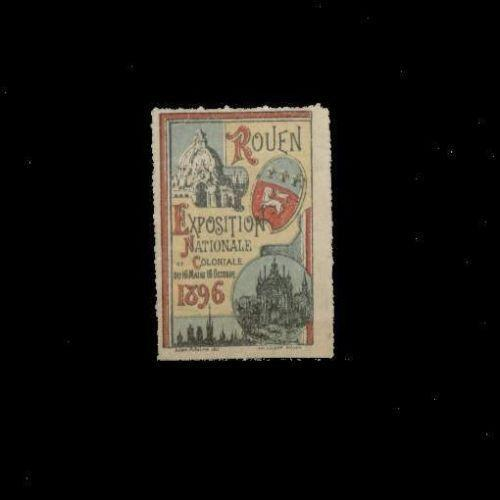 France 1896 Rouen Colonial Expo Poster Stamp