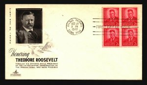 Canal Zone SC# 137 FDC / Block of 4 / Artcraft - L1588