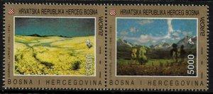 Bosnia, Croat #7 MNH Pair - 1993 Europa Paintings (a)