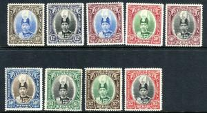 KEDAH-1937  A lightly mounted mint set to $5 Sg 60-68