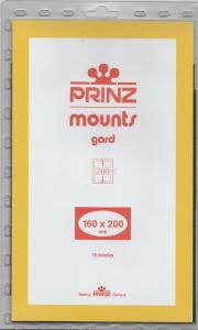 PRINZ CLEAR MOUNTS 160X200 (10) RETAIL PRICE $15.00