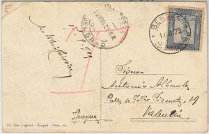 53726 - ITALIA COLONIE: LIBIA -  CARTOLINA da BENGASI a SPAGNA - 1929 -- TASSATA