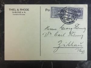1939 Czechoslovakia Postcard Commercial Cover Thiel & Rhode