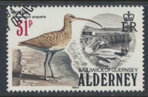 Alderney  SG A17  SC#  17  Birds Used First Day Cancel - as per scan