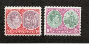 Saint Kitts-Nevis - SG# 73 & 74 MLH   /   Lot 0120177
