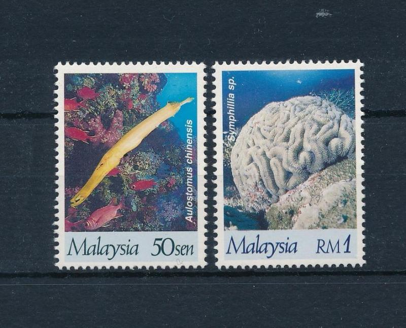 [49829] Malaysia 1997  Fish Corals from set Perforated 13 3/4 : 13 1/4 MNH