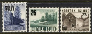 STAMP STATION PERTH Norfolk Island #26-28 Surcharge Issue MNH - CV$18.00