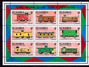 Gambia 1116 MNH 1991 Cabooses    (ap2854)
