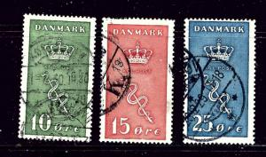 Denmark B3-5 Used 1929 set