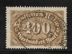 Germany, Inflation Wmk 126 Sc.# 202 Used L5