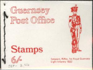 Guernsey Sergeant of Rifleman 6 shilling sewn Booklet 1969