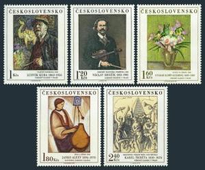Czechoslovakia 1980-1984,MNH.Mi 2232-2236. Paintings 1974.By Ludvik Kuba,Brozik,
