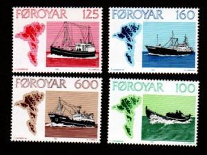 Faroe Islands 24-27 Mint NH MNH Ships!