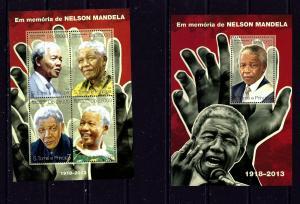 St Thomas and Prince Is 2627-28 MNH Nelson Mandela Memoriam