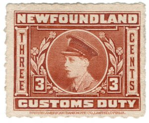 (I.B) Canada Revenue : Newfoundland Customs Duty 3c