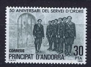 ANDORRA SPANISH 1981 MNH SC.128 Police Force