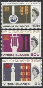 Virgin Islands  176-8  MNH  UNESCO 20th Anniversary