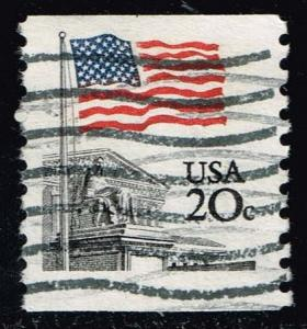 US #1895 Flag over Supreme Court; Used Tag Shift (0.25)