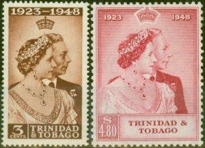 Trinidad & Tobago 1948 RSW set of 2 SG259-260 Fine Lightly Mtd Mint