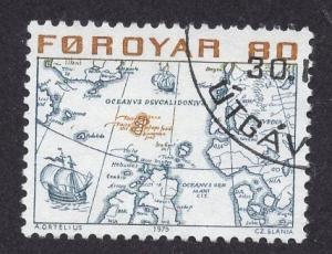 Faroe Islands  #12  1975 used  80 ore