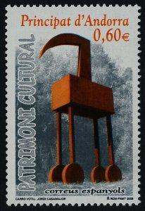 Andorra Sp 337 MNH Art, Carro Votiu, Sculpture