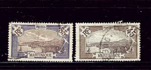Martinique 81 and 83 Used 1908-17 issues