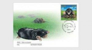 H01 Estonia 2019 Estonian Fauna – The Mole  FDC