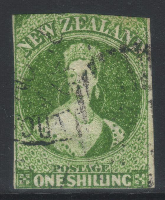 NEW ZEALAND 1864 N/Z WMK SG100 USED CAT £275 2 MARGINS