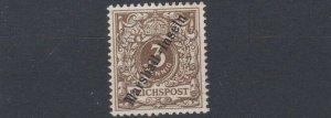 MARSHALL   ISLANDS 1899 - 1900  S G  G5   3PF  GREY BROWN MH