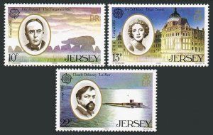 Jersey 353-355,MNH.Michel 347-349. EUROPE CEPT-1985,Performing Arts.Composers,