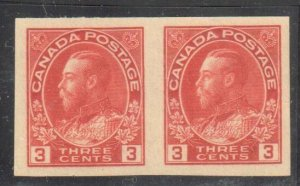 Canada #138 XF MINT NH Imperf Pair C$75.00