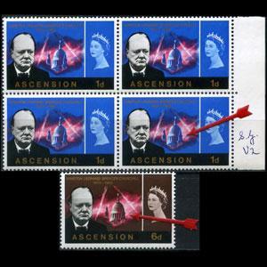ASCENSION 1966 - SG# V2 Churchill Variety Set of 1 NH