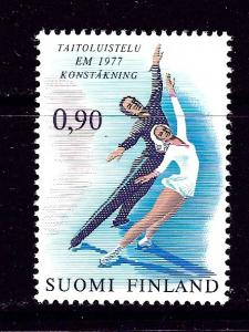 Finland 592 NH 1977 Figure Skaters