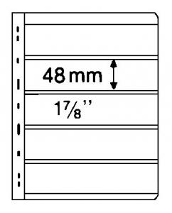 Stocksheets VARIO 5 PKT, 2 side, BLACK (1 lot 5 PKS) (V5S)